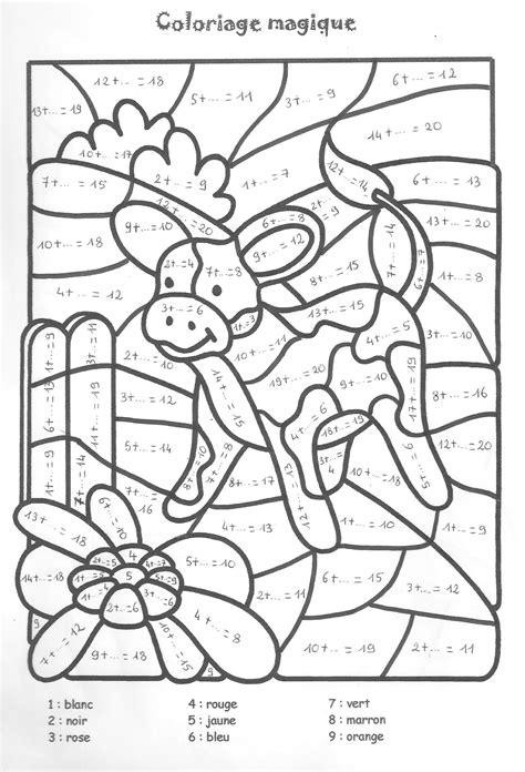 Pelangsing C N R 20 dessins de coloriage magique division 224 imprimer