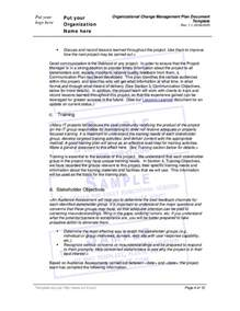 document management policy template organizational change management plan document template