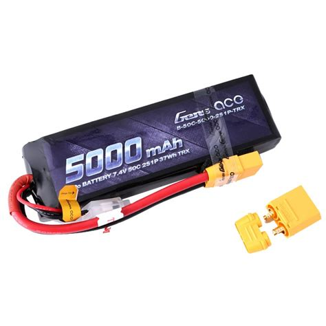 5000 Mah 2s1p 74v 20 30c Hardcase Pack Murah 1 gens ace 5000mah 7 4v 50c 2s1p lipo with original trx connector gens ace