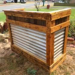 Wood Bar Diy Reclaimed Pallet Wood Bar Table 99 Pallets