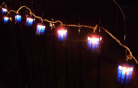 rewind doctor who tardis string lights merchandise