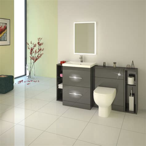 grey bathroom furniture patello 1600 fitted bathroom furniture grey buy at bathroom city