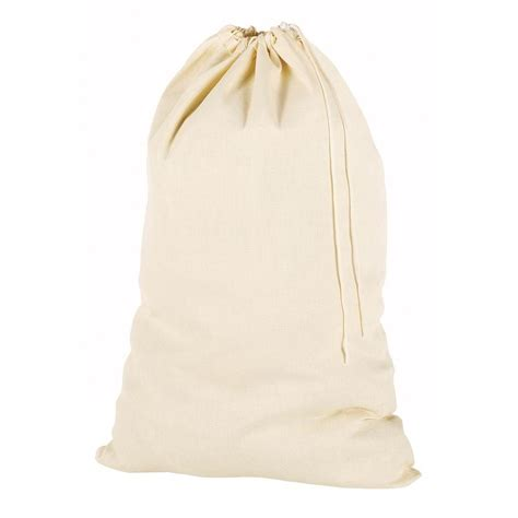 Whitmor 24 In X 36 In Natural Cotton Beige Laundry Bag Canvas Laundry Bag