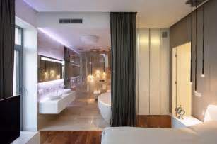 Open Floor Plan Bathroom by Spacious And Modern Apartment Interior With Stylish