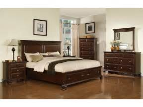 Bedrooms Set Elements International Bedroom Canton Cherry Storage Bed
