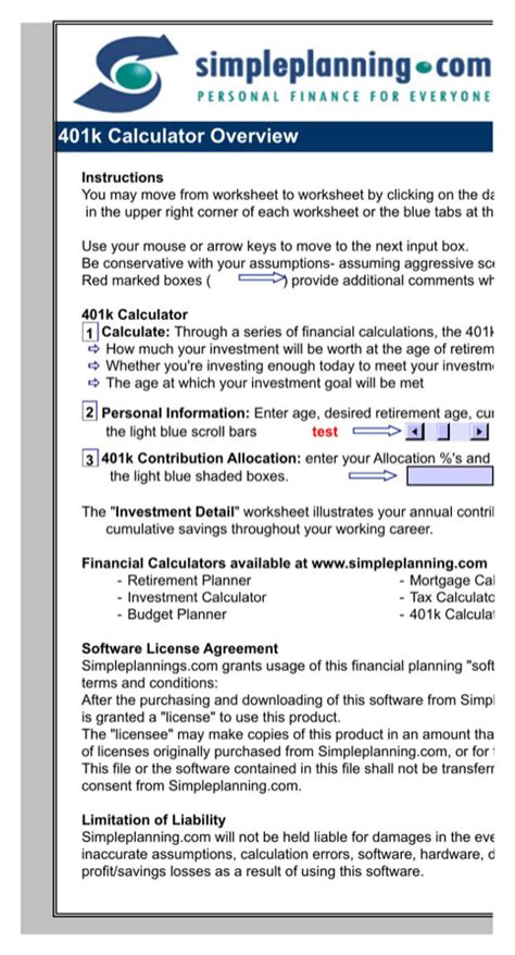 Download 401k Calculator For Free Formtemplate 401k Rfp Template