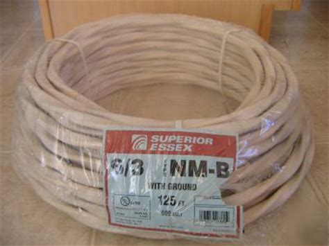 cost of 6 3 electrical wire new 125 6 3 nm b romex copper electrical wire 6 3