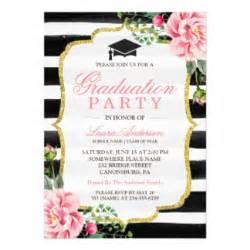 gold glitter graduation invitations announcements zazzle