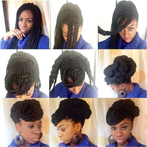 how to do a box braid step by step 25 best ideas about box braids updo on pinterest