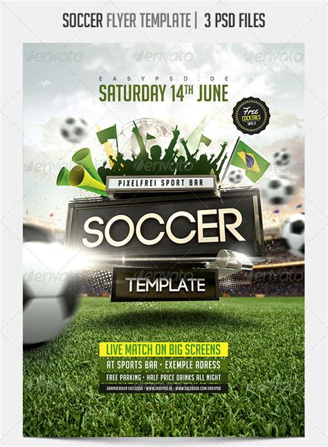 soccer flyer templates word excel sles