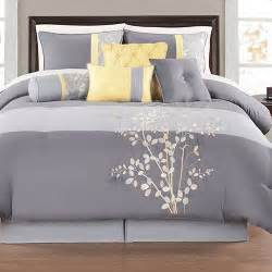 yellow and gray bedding sets charlee 12 comforter