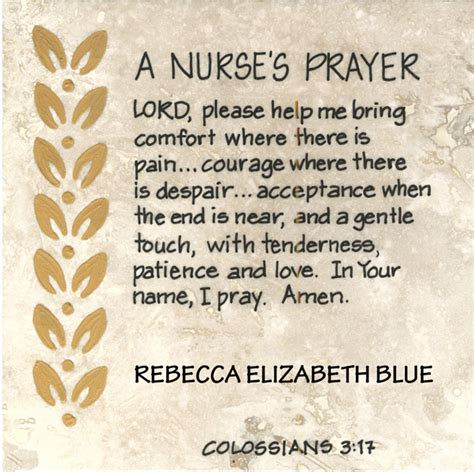 printable nursing quotes 4 best images of printable nurses prayers nurse prayer