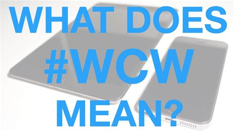 what does in what does wcw wcw meaning hashtag