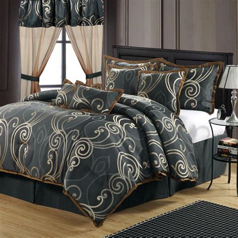 24 piece bedding set martha stewart grand damask queen 24 piece comforter bed in a bag set ebay