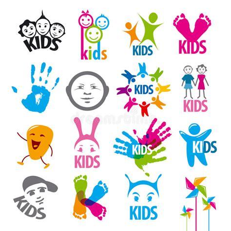 kids logo design stock illustration image of childhood set of vector logos children stock illustration image