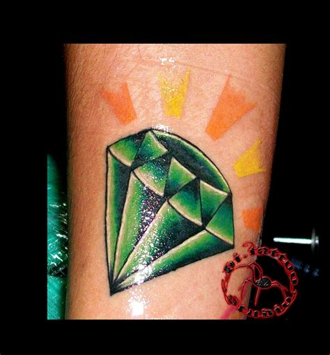 diamond tattoo and custom art diamond tattoo by biandtattoist on deviantart