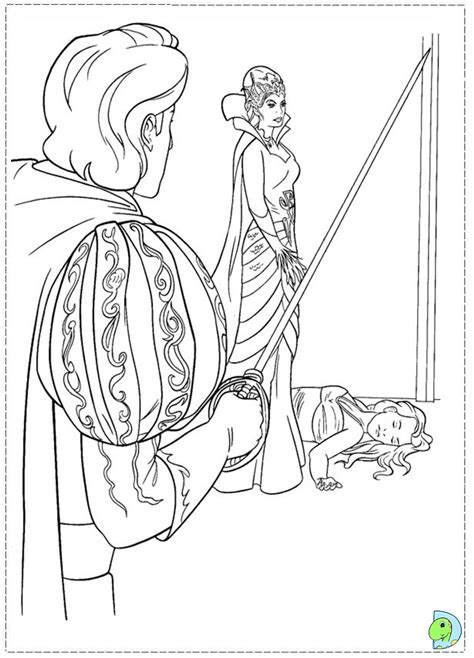 enchanted princess coloring pages free coloring pages