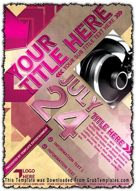 poster template photoshop photoshop flyer template design