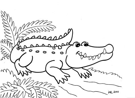 coloring sheet of alligator free printable alligator coloring pages for kids