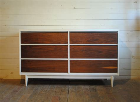 White And Brown Dresser by Swish Two Tone Brown White Polished Wooden Modern Dresser
