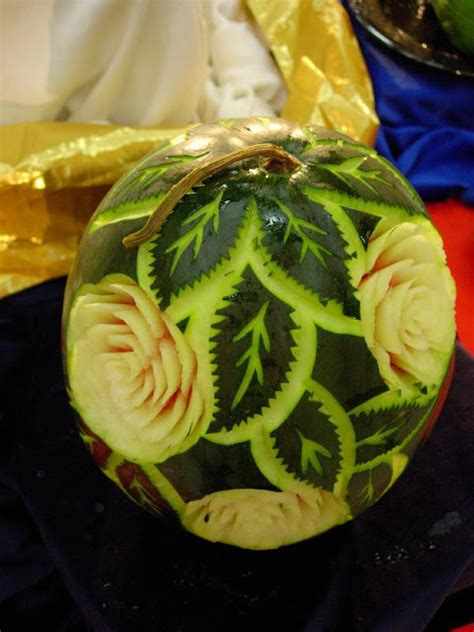 amazing watermelon art carving weird  wonderful