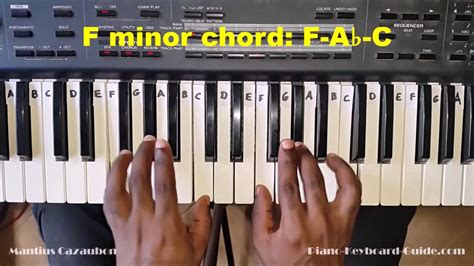 How To Play An F Minor Fm Bar Chord On Guitar 8th Fret   178.128.108.15