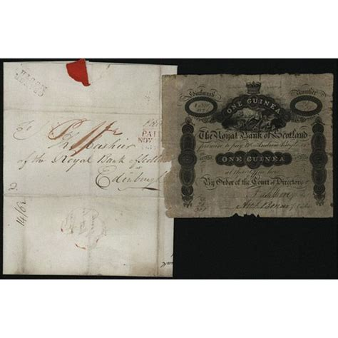 Letter Of Credit Royal Bank Of Scotland royal bank of scotland 1826 dated counterfeit 1 guinea