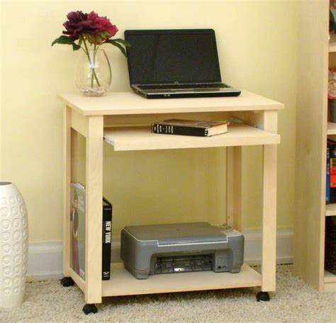 Rectangle Natural Brown Wooden Computer Desk With Shelves Also Single Storage   atlanta online