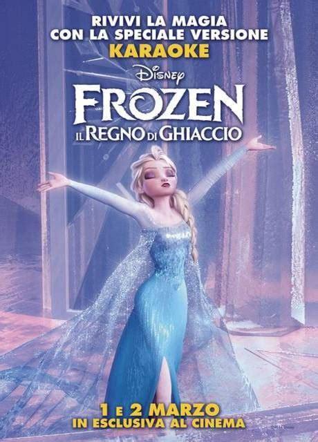 film frozen il regno di ghiaccio poster del film frozen il regno di ghiaccio versione
