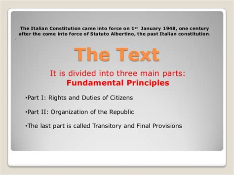 the us constitution is divided into three sections the constitution of italy 2