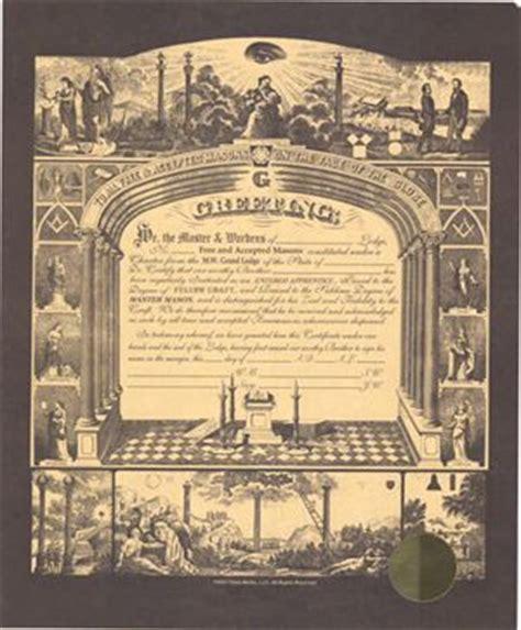 Masonic Certificate New F Am Master Mason Reproduction Lithograph 19 95 Masonic Lodge Website Templates