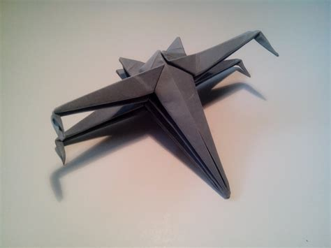 How To Make A Paper X Wing - como hacer una nave de wars de origami sencilla x