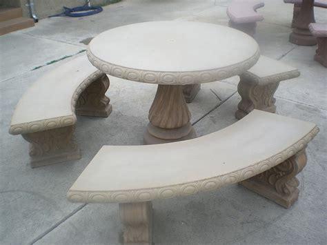 concrete patio table set bench design astounding concrete patio table and benches