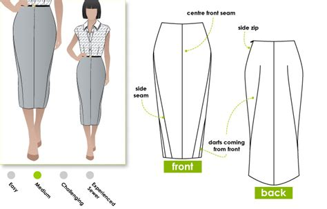 pattern drafting for pencil skirt stylearc zoe pencil skirt