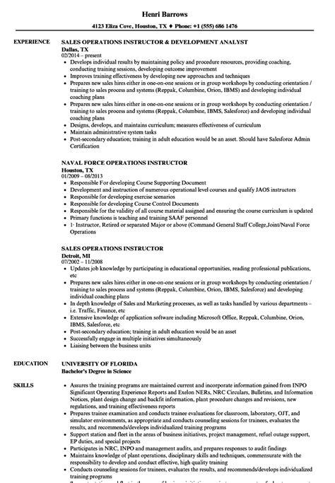 Instructor Resume