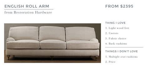 roll arm sofa back ginny s roll arm sofa emily henderson