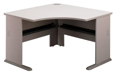series a pewter 48 inch corner desk from bush wc14566