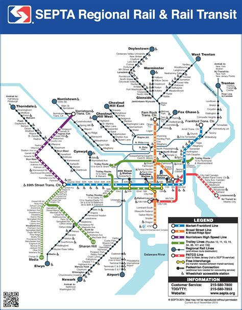 usa philadelphia map philadelphia septa map