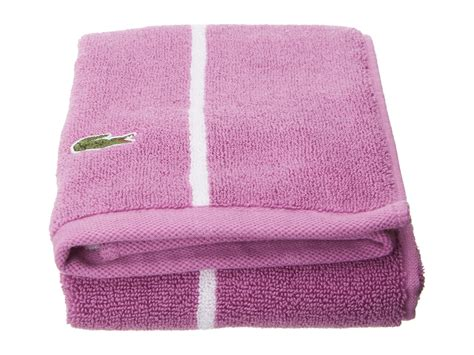 lacoste sport stripe towel shipped free at zappos