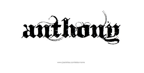 anthony tattoo anthony name designs