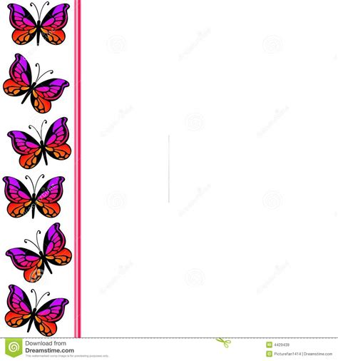 butterfly border template butterfly border 2 royalty free stock images image 4429439