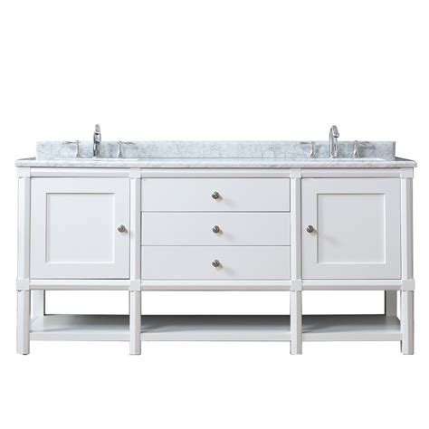 Home Depot Martha Stewart Vanity by Martha Stewart Living Sutton 72 In W X 22 In D Vanity In Bright White With Marble Vanity Top