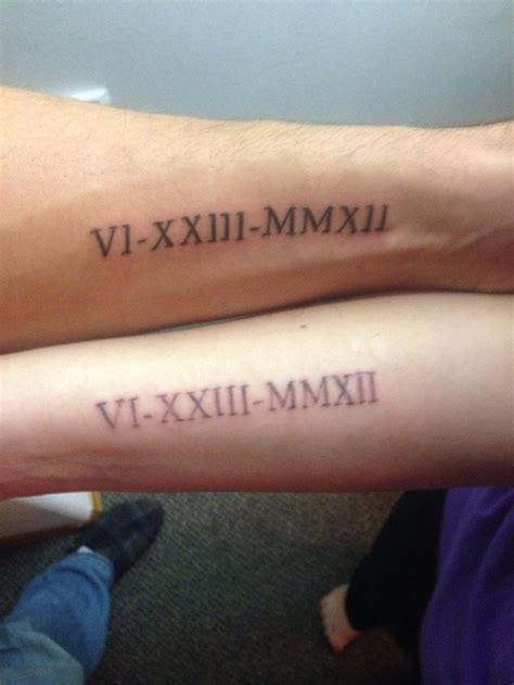 wedding date couple tattoo tattoo pinterest nice