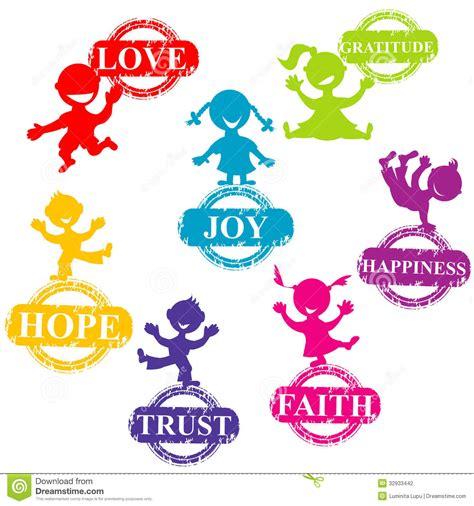 imagenes positivas para hijos ni 241 os del garabato con los sellos con palabras positivas