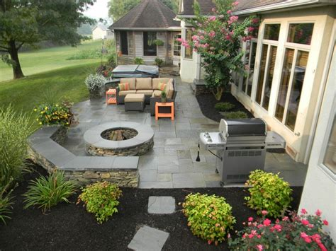patio layout ideas patio paver vs sted concrete which is best hively landscapes
