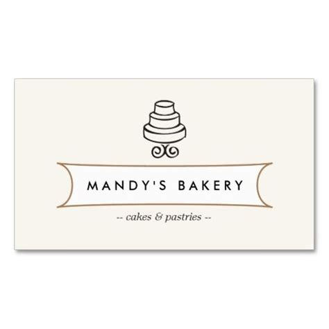i want to make my own business cards vintage cake logo i for bakery cafe catering business