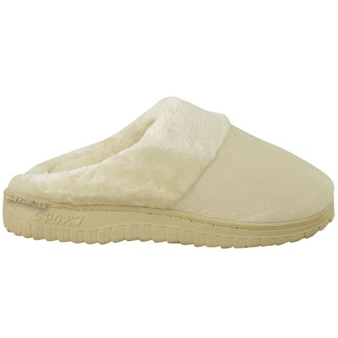 rubber bottom slippers new womens fur lined faux suede rubber sole