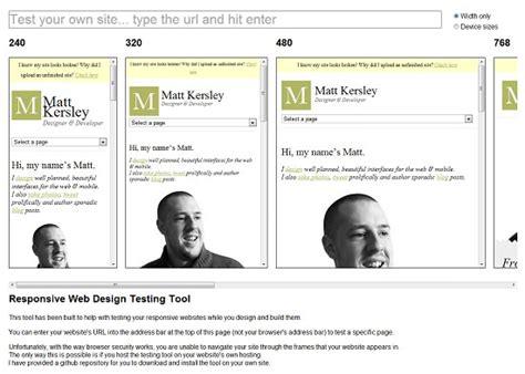 javascript pattern tester rsponsive design template testing preview responsive