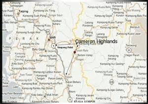 cameron service 31 map of cameron highlands tanah rata