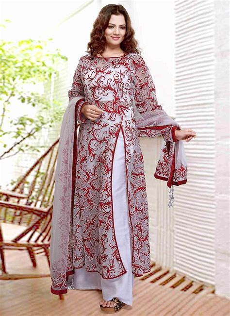 net pattern suit white net palazzo suit colors of my vibrant india